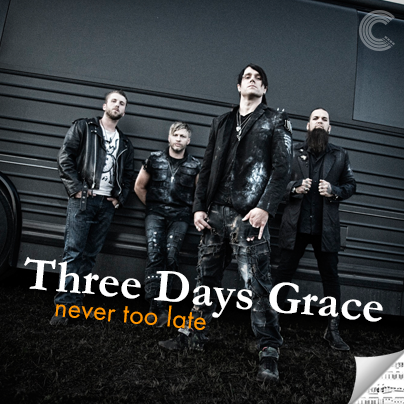 Three Days Grace Sheet Music - Never Too Late