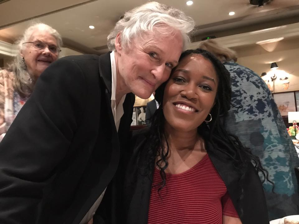 Glenn Close and I at the Theatre Hall of Fame Fellowship Luncheon