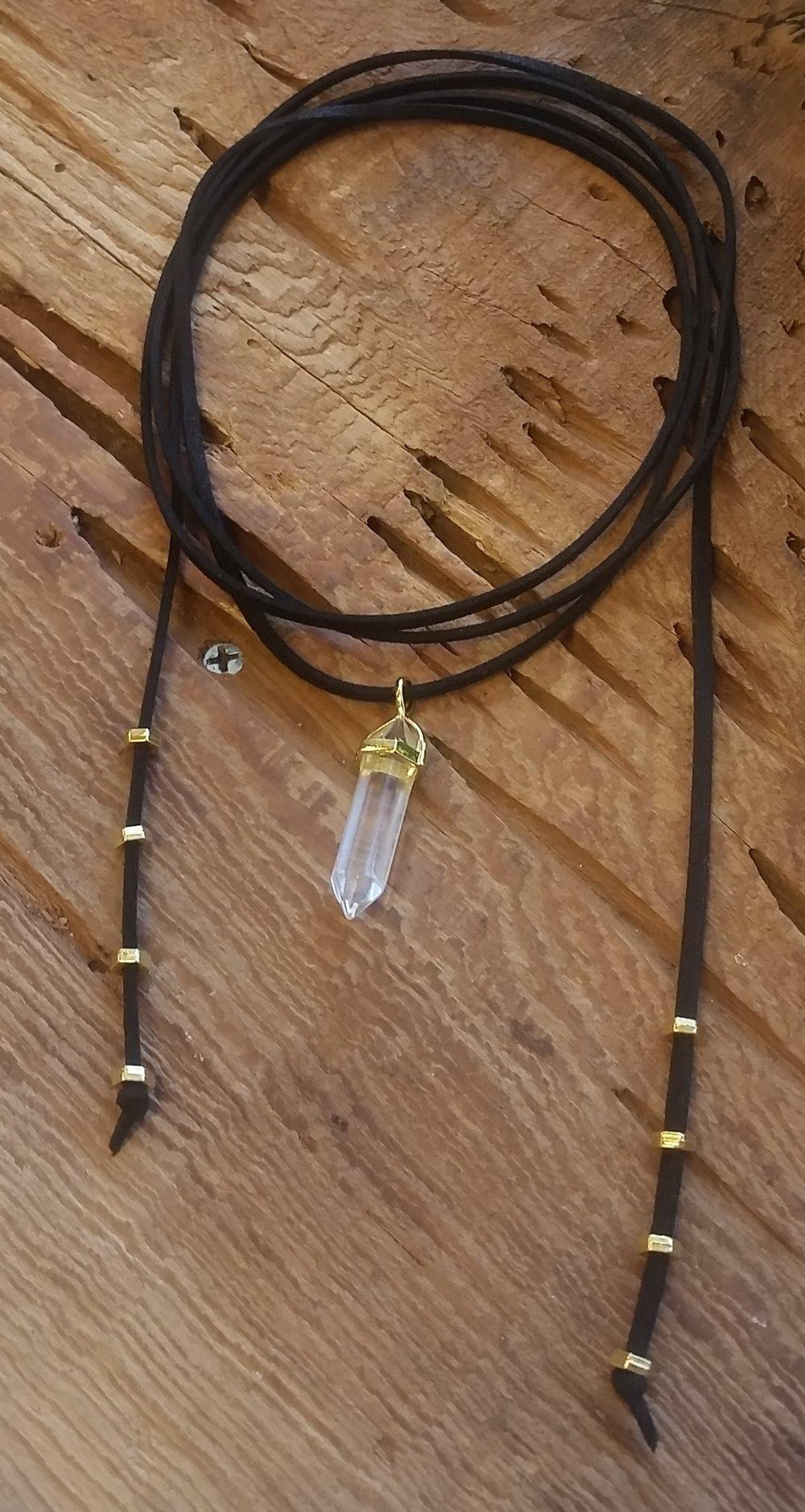 Black Choker w:crystal pendant.jpeg