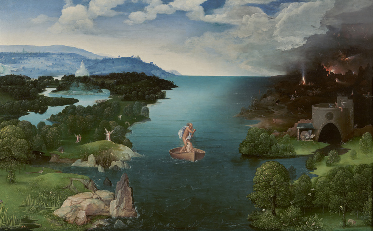 """""""Landscape with Charon Crossing The Styx"""", by Joachim Patinir"""