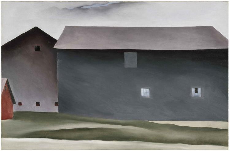 """""""Lake George Barns"""" by Georgia O'Keeffe"""