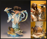 It Was A Gorgeous Day In The Rocky Mtns, For Wildlife   12x7x6  porcelain teapot  $375_jpg.jpg