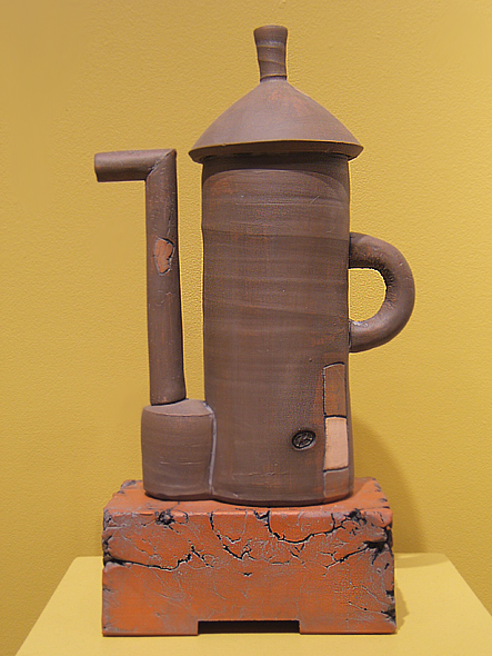 Brown Silo Teapot   16x10x4.5  earthenware   $250