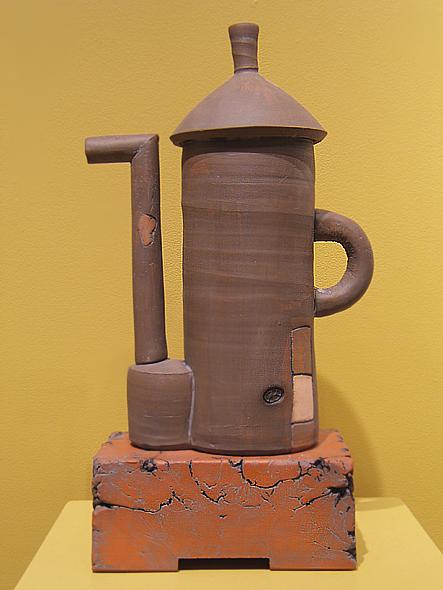Brown Silo Teapot  16x10x4.5 earthenware  $250