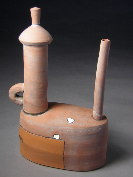 Rust Teapot   11.5x8x4  earthenware   $250