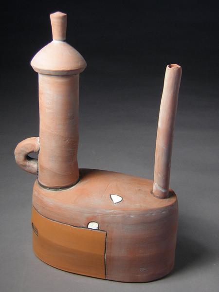 Rust Teapot  11.5x8x4 earthenware  $250
