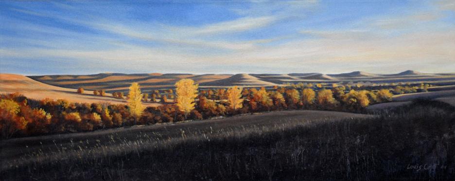 Konza Prairie Evening 16x40 oc $1,950 uf