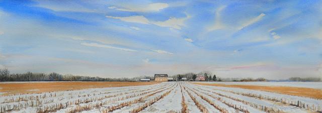 Taylor Farm (panorama) 11x30 wc $925