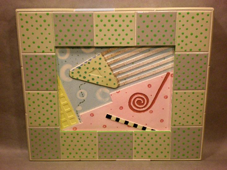Cosmic Sweet Tarts 17x20x2 slipcast tile $425
