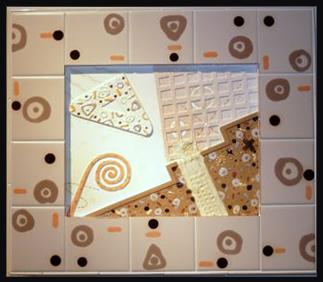 Rawhide Chew 17x20x2 slipcast tile $425