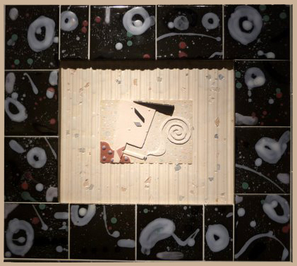 Tough Guy  19x17x2  slipcast tile  $400