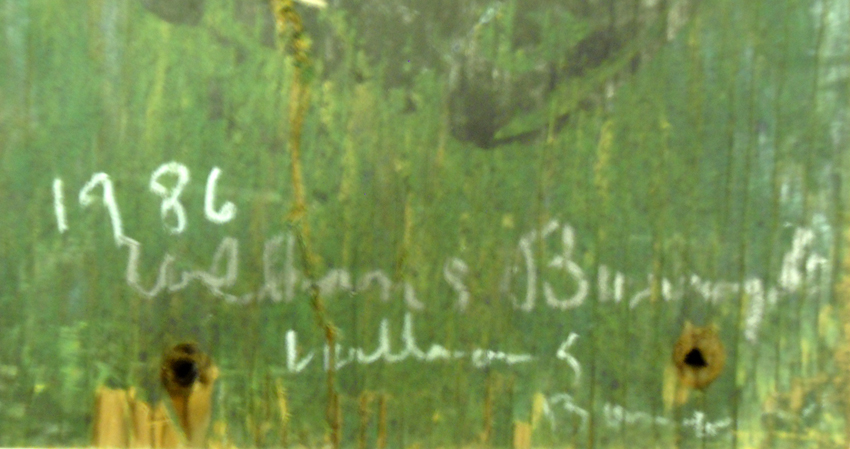 Mista Kurtz He Dead (date and signature detail)