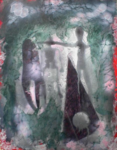 Undersea Scene 23x17.5 acrylic on paper $5,000 fr