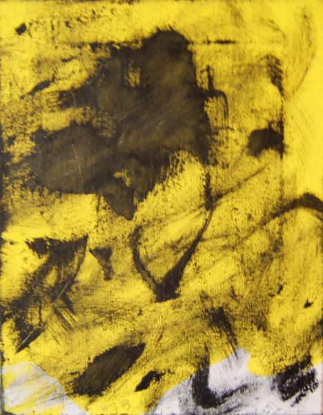Untitled (Diptych) Segment B  14x11 acrylic on canvas  uf