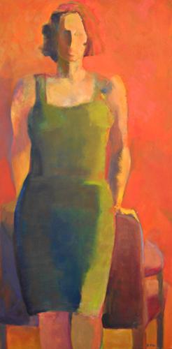 The Green Dress 48x24 oc $2,100