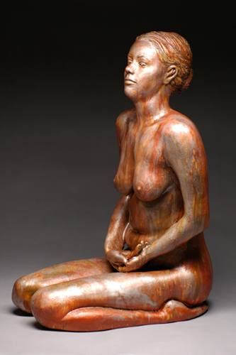 Bronze Shannon  37x21x13  ceramic, stains, encaustic  $1,500