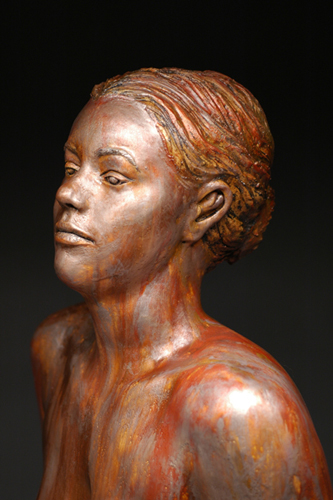 Bronze Shannon (close up)  37x21x13  bodycast  $1,500