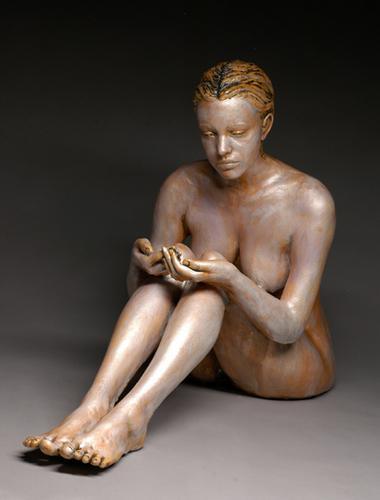 Precious Shannon 32x25x13 ceramic, stains, encaustic $1,500