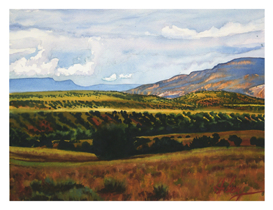 Ghost Ranch I  12x16 wc $1,150