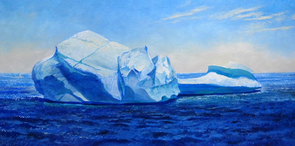 Iceberg, 15 miles off St. Anthony  16x32 op $ 3,050