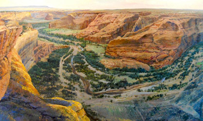 Sunrise, Canyon de Chelly, Arizona  14x24 op $2,600