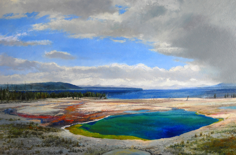 Yellowstone Lake with Hot Springs  20x30  op  $3,460
