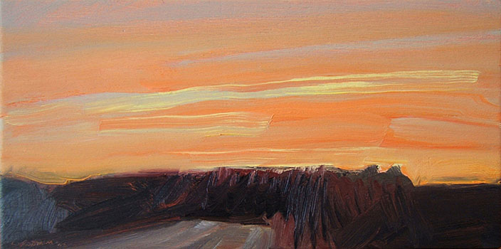 River Road-Orange and Pink  6x12  oc  $510 fr