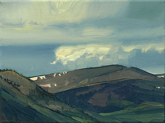 Mountains West of Creede 9x12 oc $575
