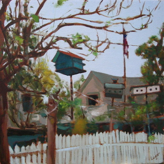 Lawrence Birdhouse #2  15x15  oc  #336