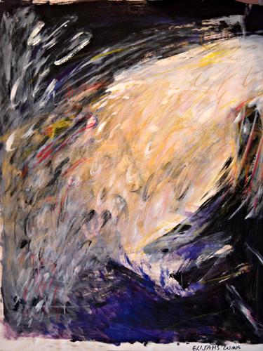 Elijah's Wing 40x30 acrylic on paper $800 uf