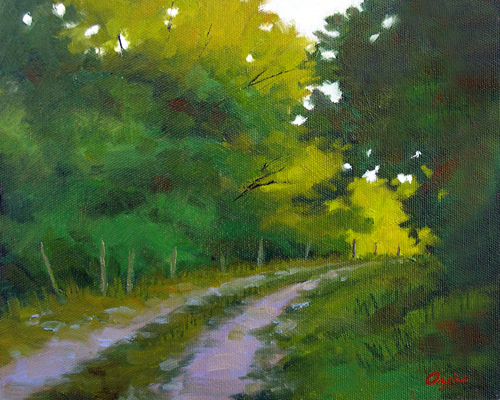 A Place for a Stroll  8x10  ob  $325