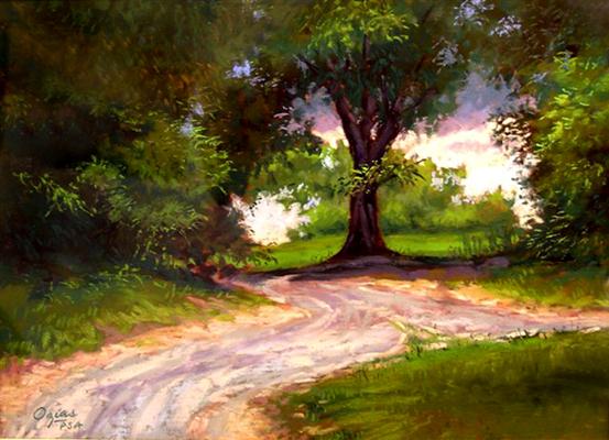 The Path 9x12 pastel $375