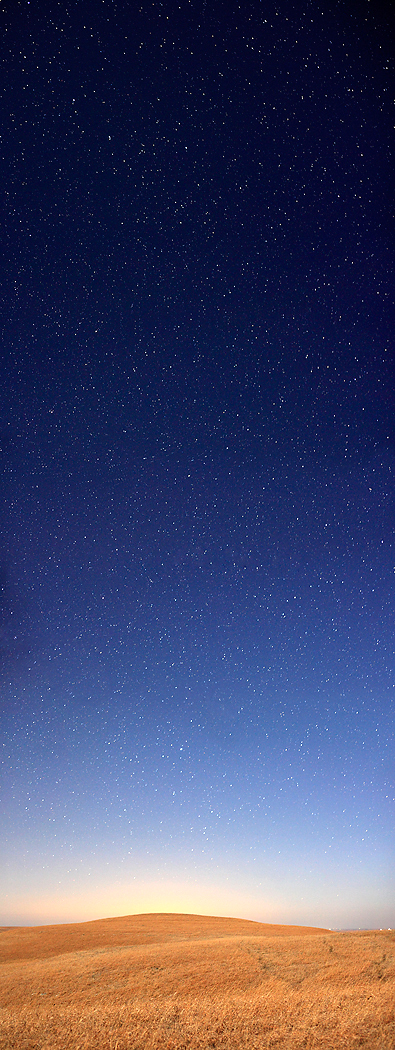 Starry Night In The Flint Hills  72x27  photograph on silk  $425