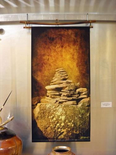 Silk Scroll, Cairn of Wisdom 36x17 $195