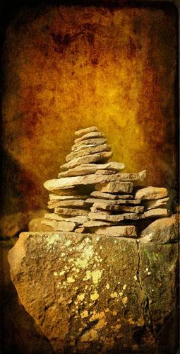 Silk Scroll, Cairn of Wisdom (Rock Cairn Layered)