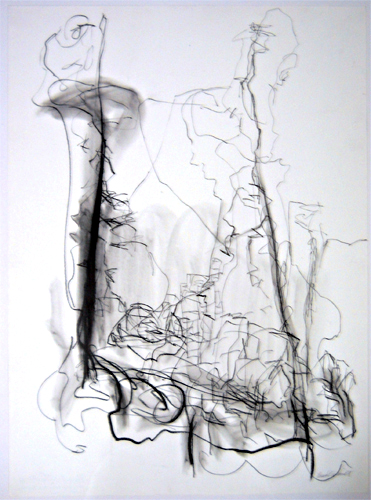 May Day Series 7  30x22  graphite  $850  framed in silver aluminum