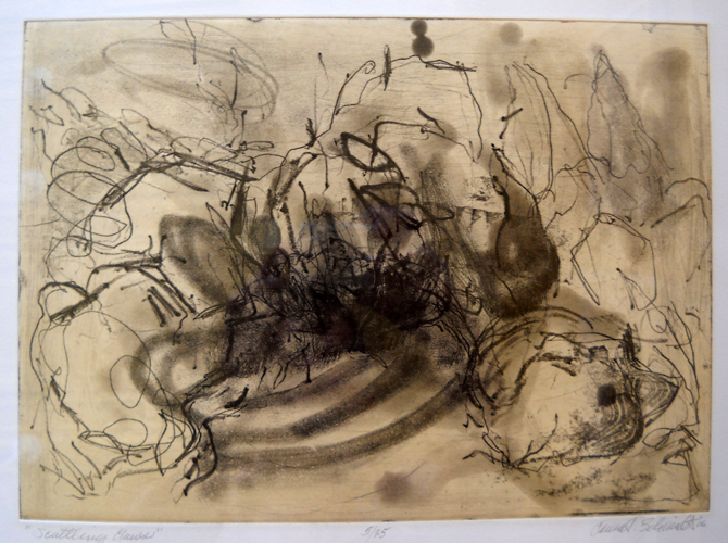 Scuttling Claws 25x24 intaglio etching  $500