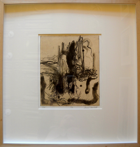 Trio  25x24 (outer framed) intaglio etching (2 of 25)  $500