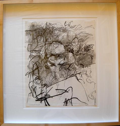 White Rabbit 25x24 (outer framed) graphite $850