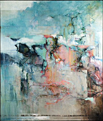 Prokofiev 56x47 acrylic and mixed media on linen SOLD