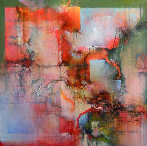 Quartet X, Irish Fantasy 48x48 acrylic and mixed media on linen $5,200