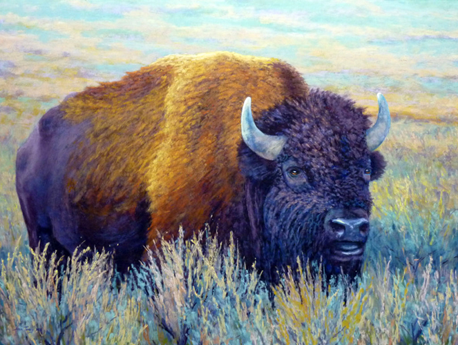 Prairie Champ 18x24 pastel $925