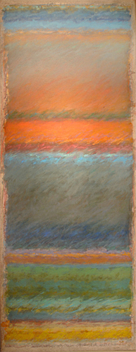Strata 79 - Deep Into the Sunset  50x20  oil on canvas  $2,000