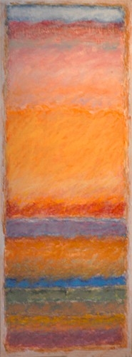Strata 83 - Noise at Sunset  50x18  oil on canvas  $1,900