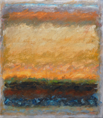Strata, Plowed Field, Near Eskridge  16x14  oil on canvas  $500
