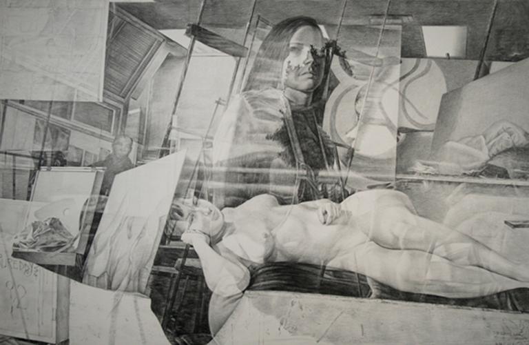 Reflection, Art Class 22x35 graphite $1,500