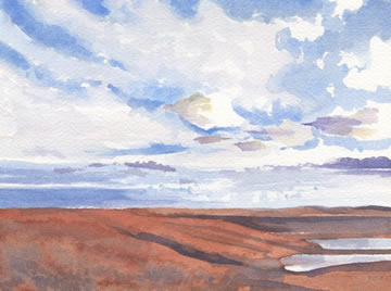 Flint Hills Light II  5x7  wc  $300*