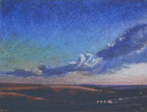 Flint Hills Study I 6x8 pastel on paper $350*
