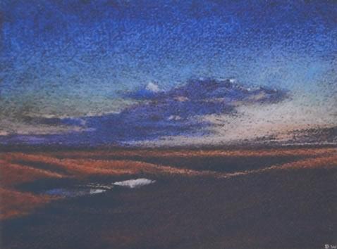 Flint Hills Study III 6x8 pastel on paper $350*