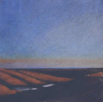 Flint Hills Evening 5x5 colored pencil on paper $250*